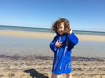 Back Beach Co Hooded Towelling Robes - Blue Australia