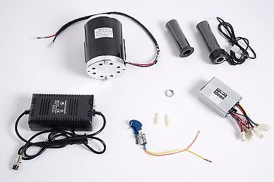 1000W 48V motor w base, speed controller, keylock, Thumb Throttle & charger