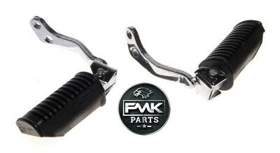 NEW Front Footrests Foot Pegs Hangers PAIR Left + Right for Suzuki GN125 GN 125