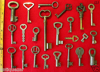 ALL GENUINE! Lot Old Antique Vintage Skeleton Keys - More Wholesale Lots Here @