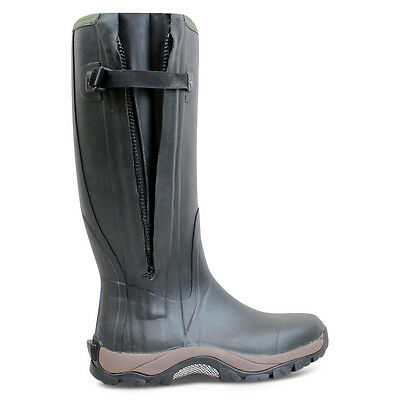 Dirt Boot Neoprene Rubber Wellington Muck Boot Pro Sport Hunt Zip Green