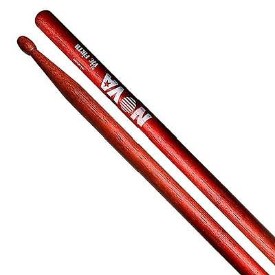 Vic Firth Nova 5A Hickory drum sticks in red Wood tip.