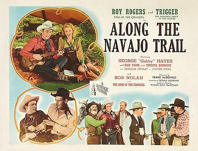 ROY ROGERS singing with DALE EVANS * ALONG THE NAVAJO TRAIL * 11x14 print * 1950