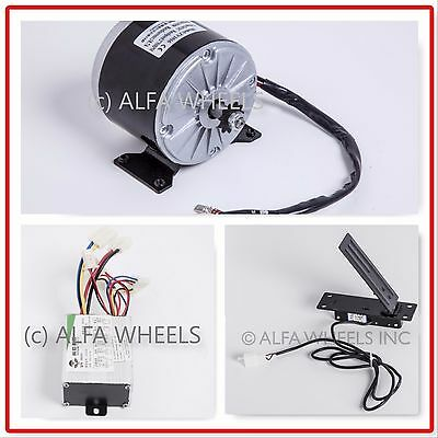 350 W 24 V DC scooter electric motor 1016 kit with speed controller & throttle