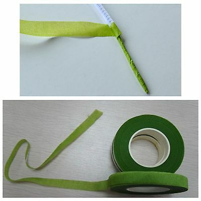 1x Paper Florist Eco Floral Tape Wedding Bouquet Stem Wrap Supplies 12.5mmx27M