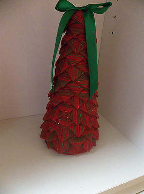 Quilted Christmas Tree Handmade 9 Inches High