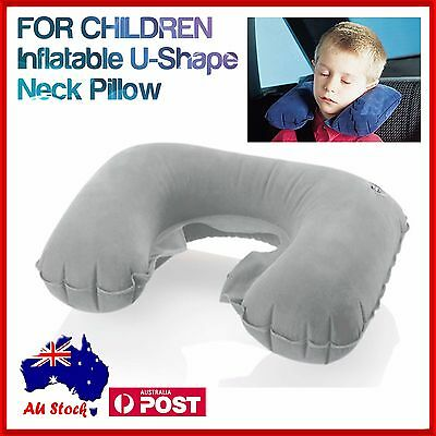 KIDS Inflatable Car Travel Neck U Shape Pillow Support Head Air Blow Up Cushion