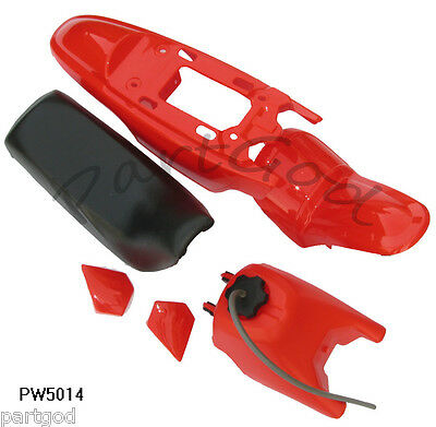 For Yamaha PW50 PY50 PW 50 Red Plastic Fender Body Seat Gas Tank Kit