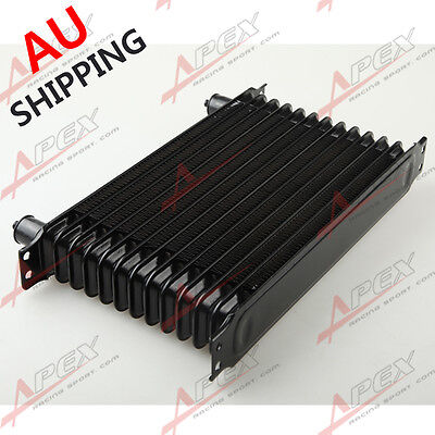 Universal 13 row -10AN Engine transmission Oil Cooler Trust Style Black AU
