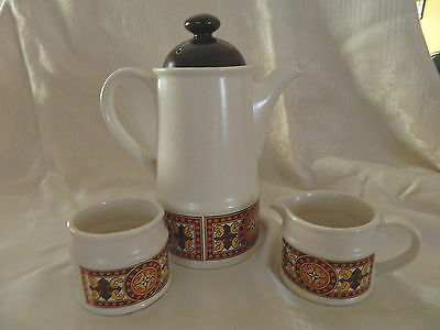 Retro Sadler Coffee Pot, Sugar Bowl & Milk Jug 1970's Pattern