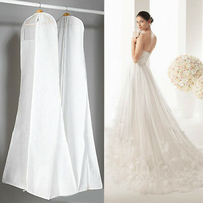 Newest Dustproof Wedding Dress Gown Garment Protector Storage Cover Zipper Bag