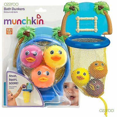 New Munchkin Bath Dunkers Colourful Toddler Child Basket Ball Toy for Bathtime