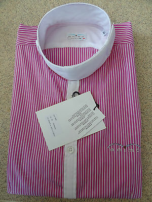 Animo Show Competition Shirt  Pink/white Stripes  i-46 uk 14 brand new