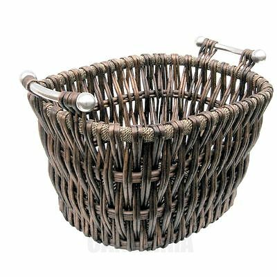 Manor Bampton Willow Basket Log Carrier Holder With Handles 1338