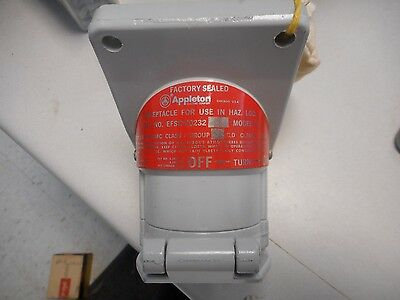 Appleton Efsr-20232 Single Gang Malleable 250V 20A 3Pole 2Wire Receptacle Cover