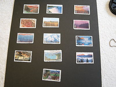 United States - Airmail Stamps - selection of 13 used