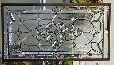 Stained Glass Window Hanging 34 1/2 X 18 5/8""