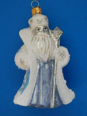 Jack Frost European Blown Glass Christmas Tree Ornament