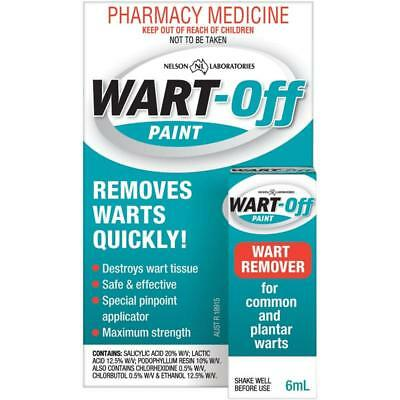 Wart-Off Paint 6Ml Removes Common And Plantar Warts Quickly Maximum Strength