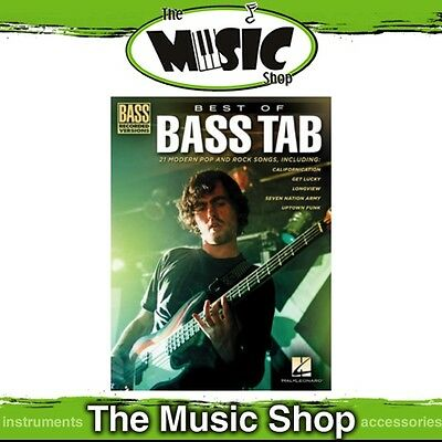 New Best of Bass Tab Music Book - Bass Guitar Recorded Versions