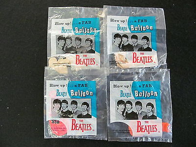 Beatles Balloons (4) In Original Unopened Packages  Lot# 134 ( 134, 135,282)