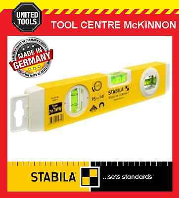 "STABILA TYPE 70TMW 25cm / 10"" 3-VIAL MAGNETIC SPIRIT LEVEL WITH ANGLE MEASURE"