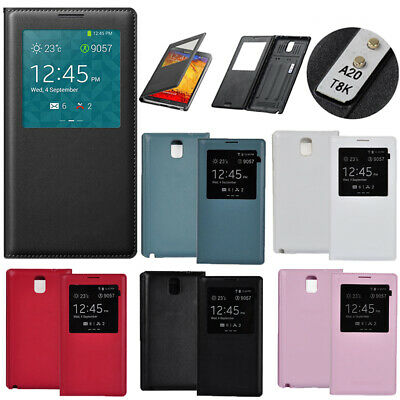 LUXURY S VIEW Window FLIP LEATHER Case Cover For SAMSUNG GALAXY NOTE 3 III