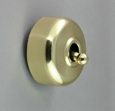 """10 SWITCHES-PLAIN BRASS COVER-BULK BUY """"CLASSIC"""" (CLIPSAL) VICTORIAN STYLE-deco"""