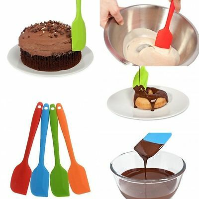 New Cake Cream Butter Spatula Mixing Batter Scraper Brush Silicone Baking Tool