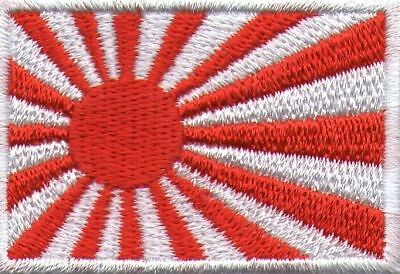 Ecusson Patche Thermocollant Drapeau Japon Rising Sun Dimensions 4,5 X 3 Cm