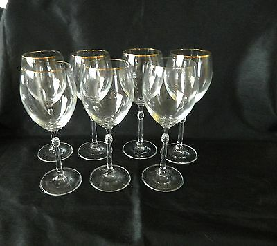 STUART CRYSTAL CARNEGIE-GOLD WINE/WATER GLASSES 300mls