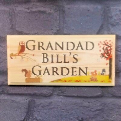 Personalised Autumn Garden Plaque / Sign / Gift - Dad Grandad Men Allotment