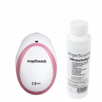 ANGELSOUNDS MINI JPD-100SM Fetaldoppler inkl. Ultraschallgel (250ml Flasche)