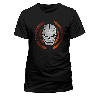 Call of Duty Black Ops 3 DISTRESSED SKULL LOGO OFFICIAL T-SHIRT Black Unisex