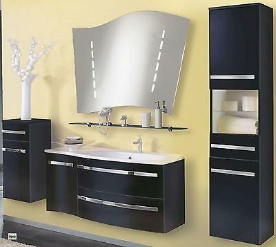 badm bel set 5 teile spiegel 2x14w waschbecken hochschrank unterschrank h ngend eur. Black Bedroom Furniture Sets. Home Design Ideas