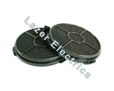 2 x Cooke & Lewis Cooker Hood Carbon Filter Round Filters 5 CARBFILT4