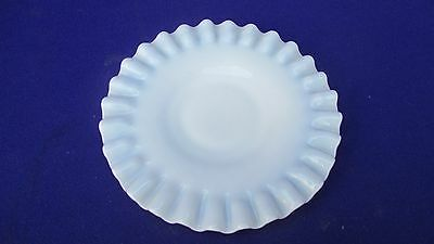 "Fenton Milk glass Hobnail opalescent 6"" footed dish plate and perfect!"