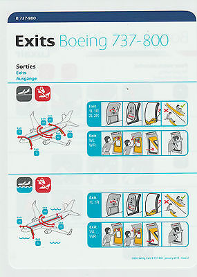 Safetycard LUXAIR Boeing 737-800, January 2013-Issue 2