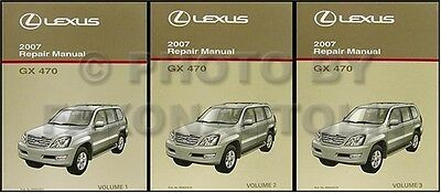 2007 Lexus GX 470 Repair Manual NEW Set of 3 Repair Service Books Oiginal GX470