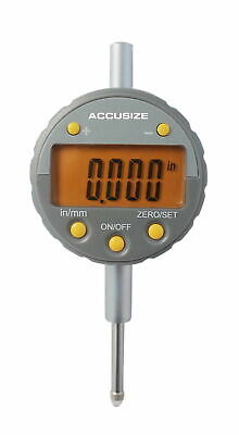 """0-1/2"""" x 0.00005"""" Electronic Digital Indicator with Yellow LCD, #611H-1348Y"""
