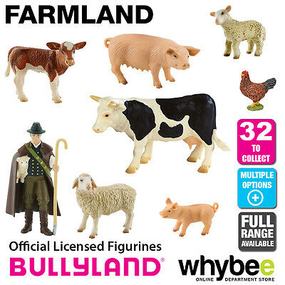 Genuine Bullyland Farmland Collection Plastic Figurines Farm Animal Figures!