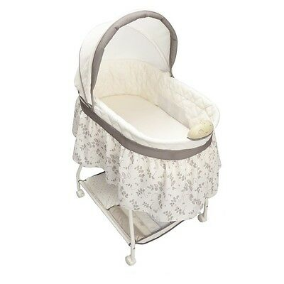 Baby Bassinet Crib White Newborn Sleeper Portable Infant Cradle Nursery Bed New