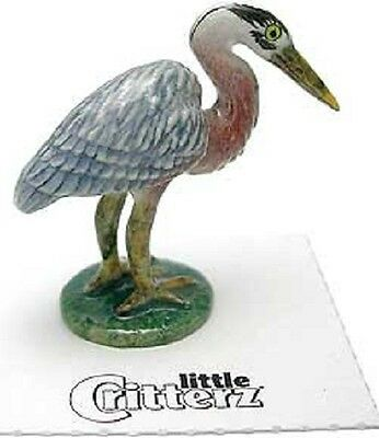 "LC582 little Critterz-  Great Blue Heron  ""Majestic"" (Buy any 5 get 6th free!)"