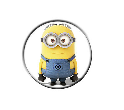 """MINIONS / 1"""" / 25mm pin button / badge / Despicable Me / birthday party bag"""