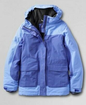 Lands End 443512 Little Girls SIZE M(5-6) Girls Squall Parka Jewelled Sapphire