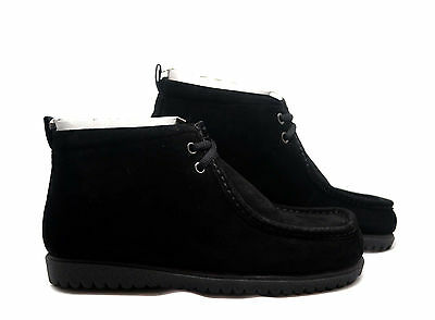 Hush Puppies Vintage Wallabody Black Boots Shoes 17890 Men's US 7-13 All sizes