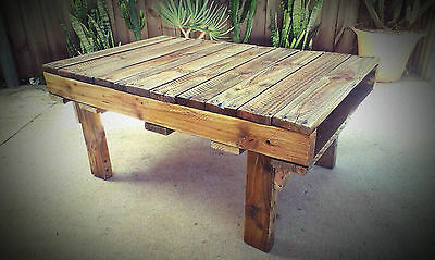 Recycled Pallet Timber Side Coffee Table Industrial Rustic Warehouse Retro Funky