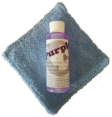 That Purple Stuff Bowling Ball Cleaner and a Micro Fiber Pad Combination