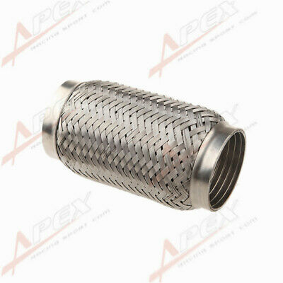 "2.5"" (63mm) ID Exhaust Flex Pipe 6"" Length Stainless Steel Coupling Interlock AU"