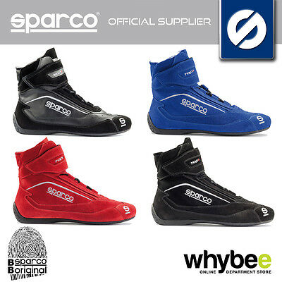 001210 Sparco Top +Sh-5 Race Kart Boots Suede High Top Design Fireproof Fia Sfi